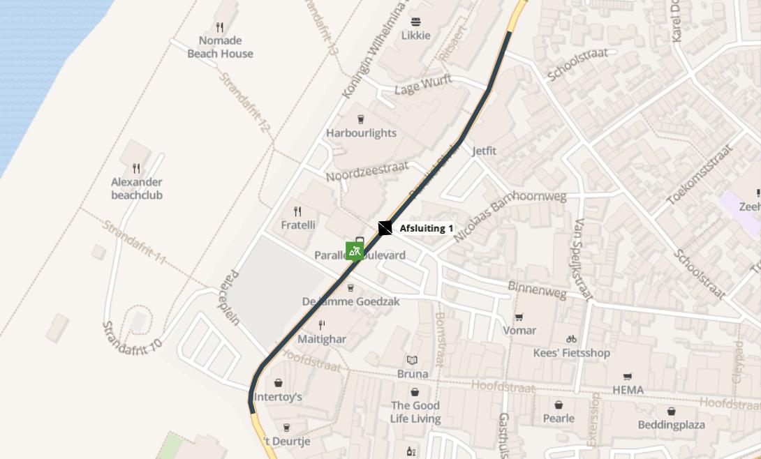 Langdurige wegafsluiting Parallel Boulevard